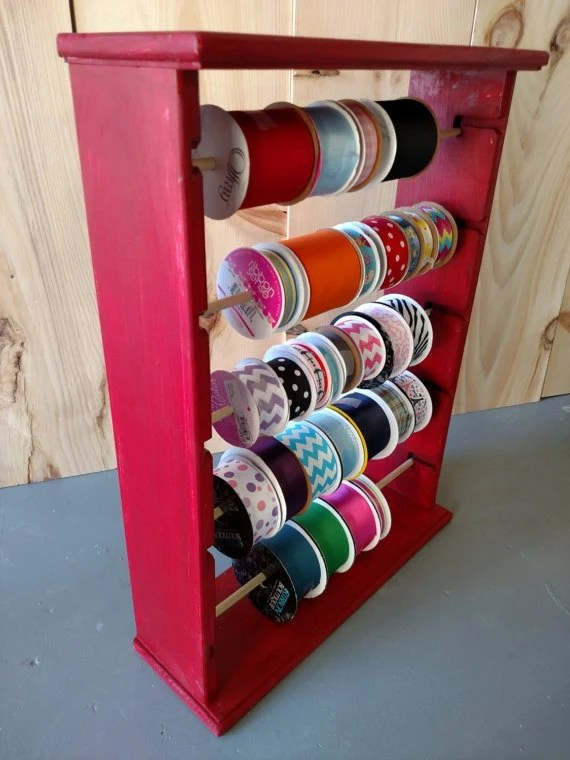 Ribbon Rack Organizer Holds 125 Spools 4 And 5 Inch Painted