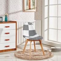 Patchwork Scandinavian Chair Modern Living Room Dining Room