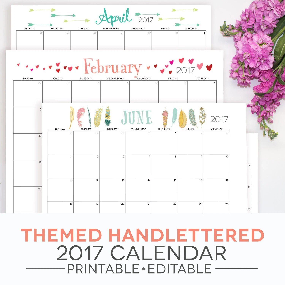 monthly calendar template 2018 - Physicminimalistics