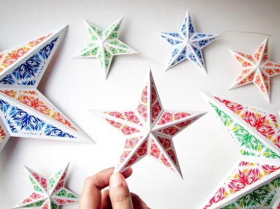 DIY Christmas star ornaments 8 DIY holiday ornaments - christmas star decorations