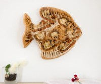 Ceramic Fish 3D Wall Art Decor Sculpture Lake House room