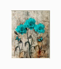 teal and brown wall decor - 28 images - large wall ...