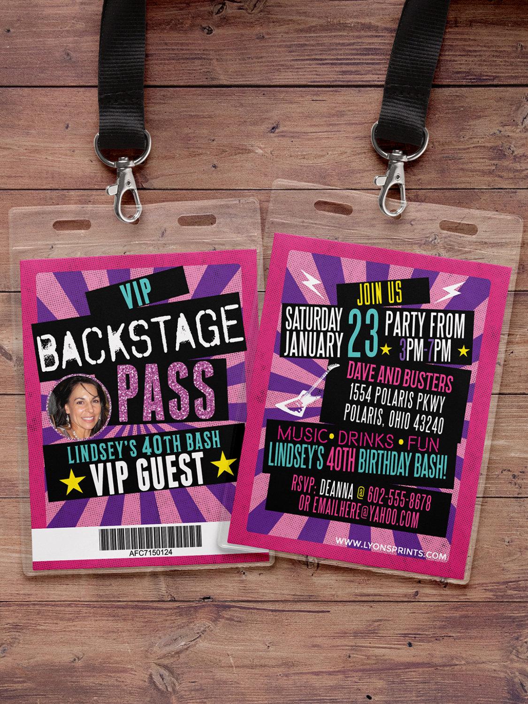 concert invitations