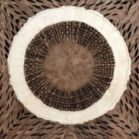 Amate Bark Paper Wall Art with Circle Design
