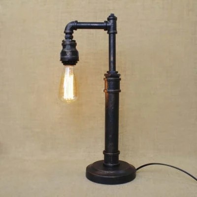 Items similar to Vintage Industrial Pipe Lamp
