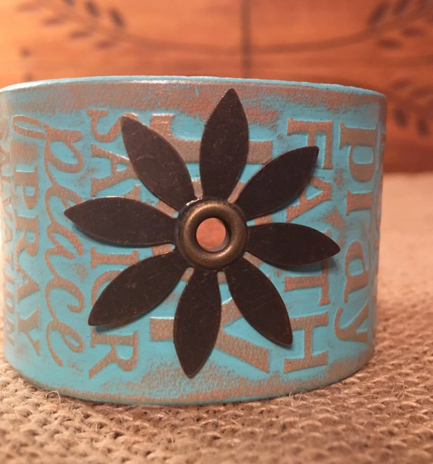 Hand Painted Genuine Leather Cuff Bracelet