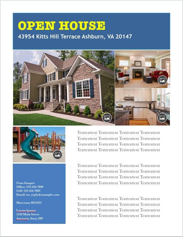 Digital Download Real Estate Open House Flyer Template - house flyer template