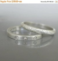 ON SALE Modern wedding ring set Engagement by ...