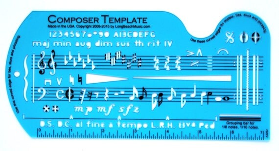 Song Writeru0027s Composing Template for Music Notes \ Symbols - music staff paper template