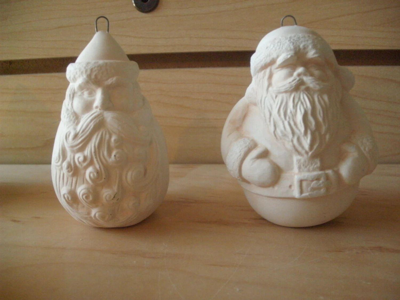 unpainted ceramic christmas ornaments