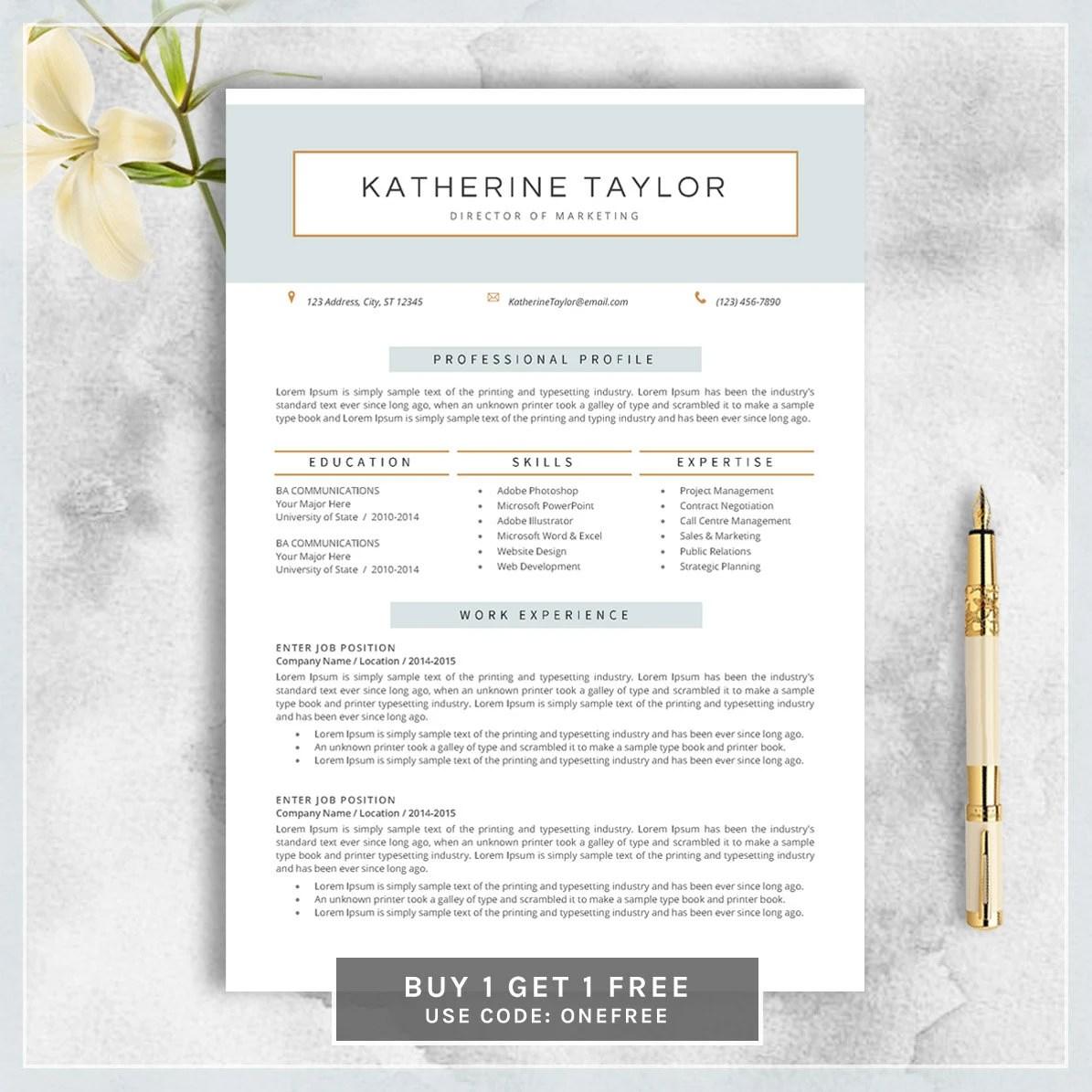 Download 35 Free Creative Resume Cv Templates Xdesigns Modern Resume Etsy