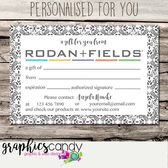 Rodan + Fields Independent Consultant Gift Certificate Design - Gift