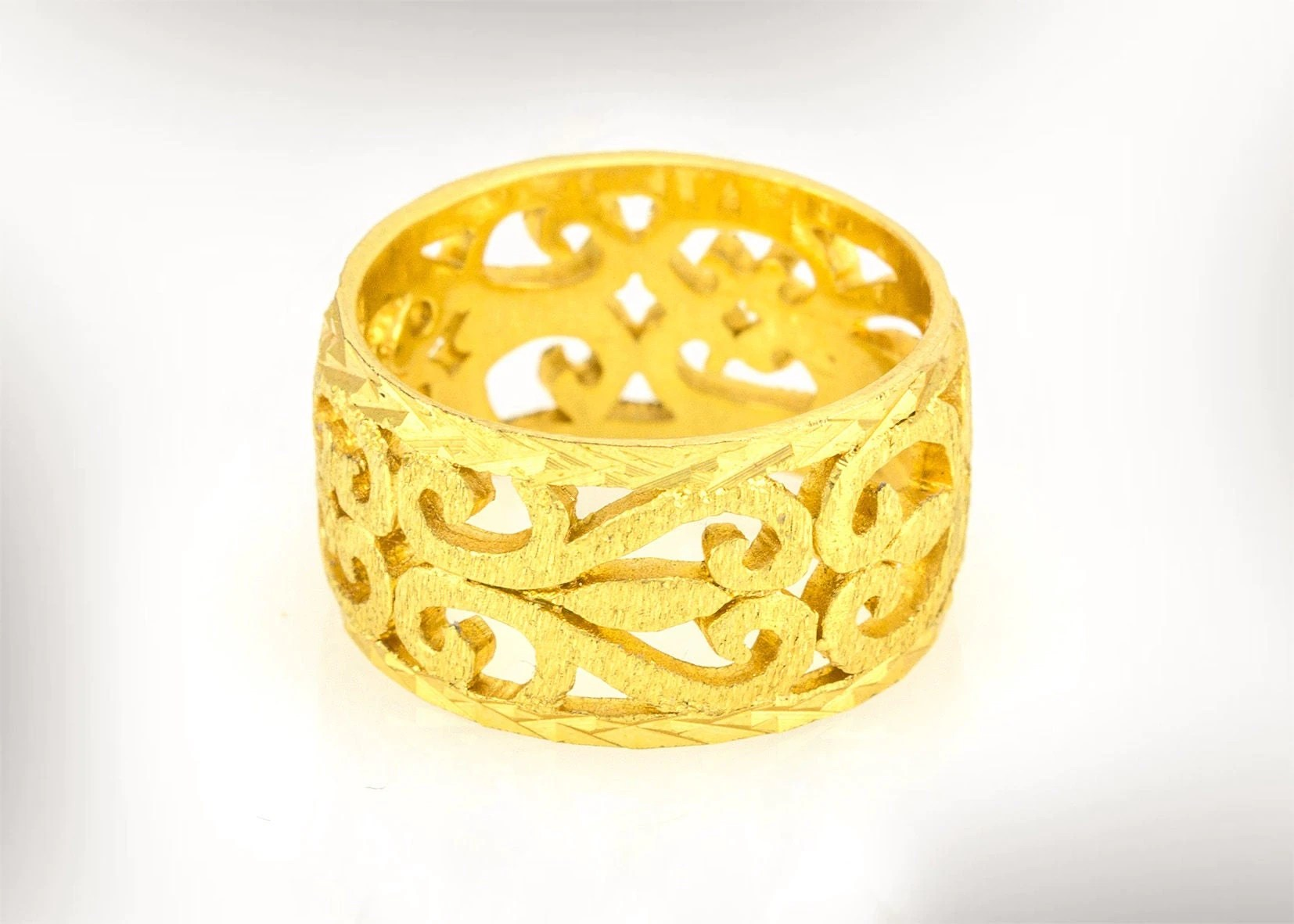 unique wedding band unique wedding ring Unique Wedding Ring Wedding ring Vintage Women Gold Wedding Ring 14k Gold Wedding Ring Bridal Rings Lace Wedding Ring Free Shipping