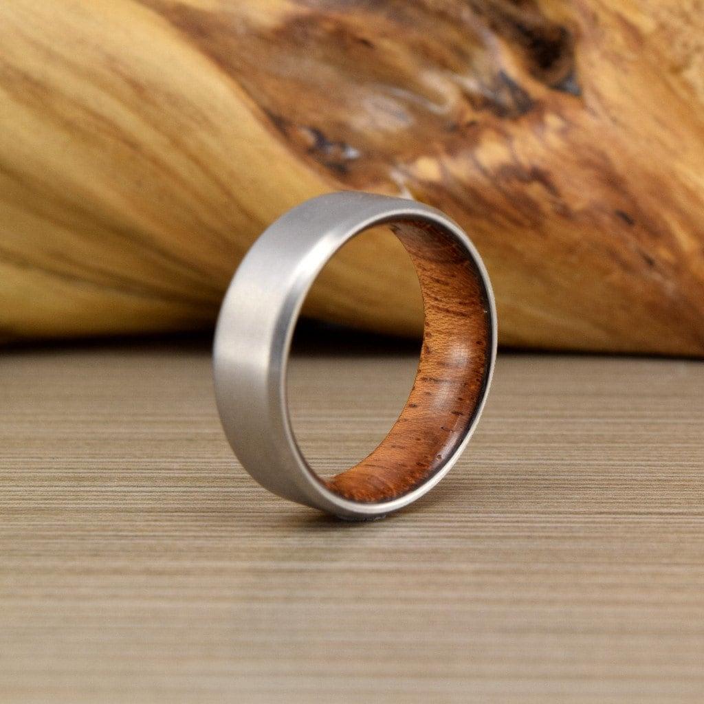 titanium ring wedding bands Titanium Brazilian Cherry ring Men s Wedding Ring Womans Wedding Ring Women s Ring Men s Ring Men s Wedding Band