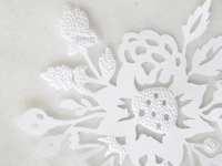 Flower art. Paper cut art. White flower paper cut. Floral