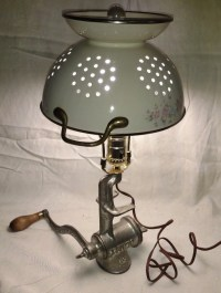 Meat Grinder Lamp Kitchen Salvage Light Retro Reuse Upcycle