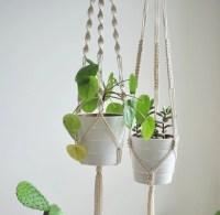 hanging plant holders macrame - 28 images - handmade jute ...