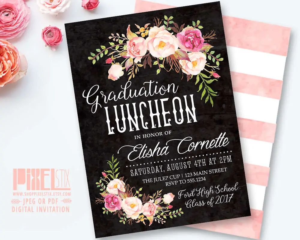 graduation lunch invitation