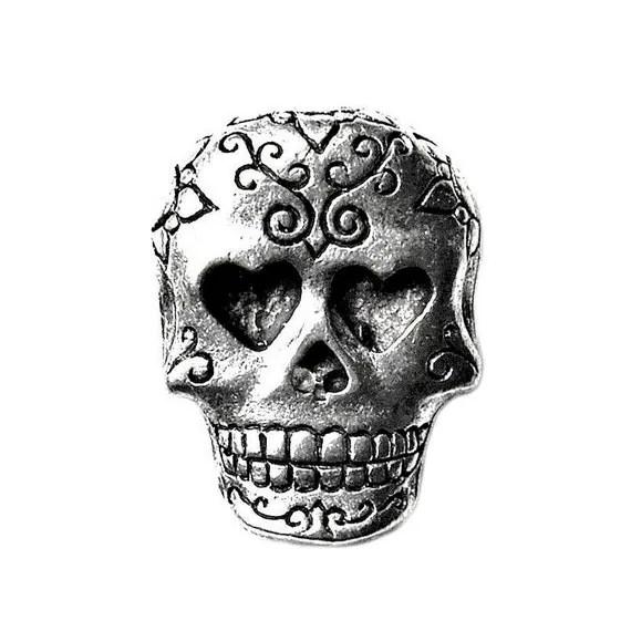 Day of the Dead Skull Lapel Pin Tie Tack Valentine's