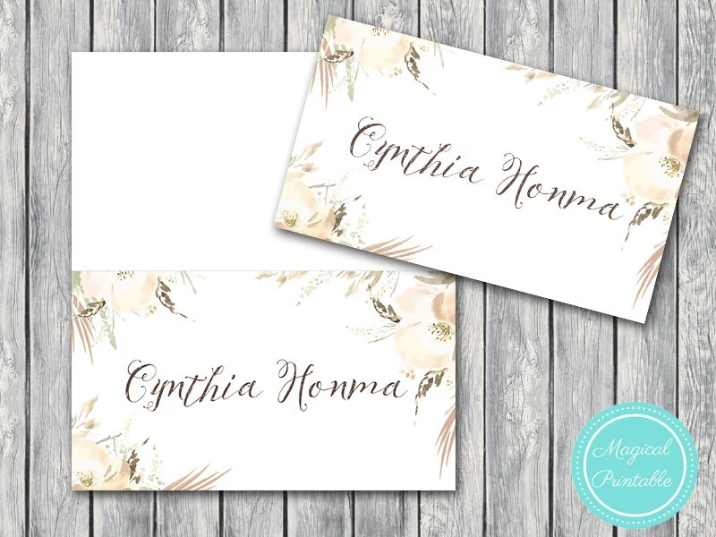 50 Download File Wedding Name cards, Name Tags Printable, Tent Style