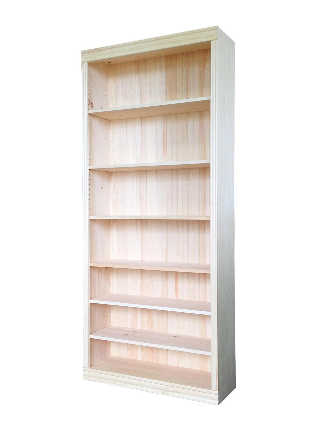 Solid Pine Bookcase 30w X 82h X 12d Unfinished