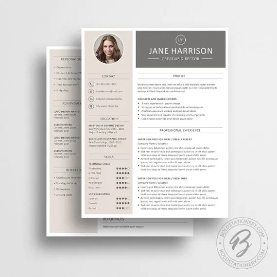White Resume Etsy Rainbows