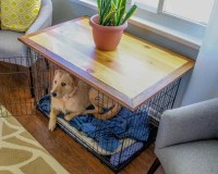 Dog Crate Topper End Table Living Room Furniture Home