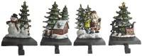 Christmas Stocking Holder Set of 4 hooks Sleigh by ...