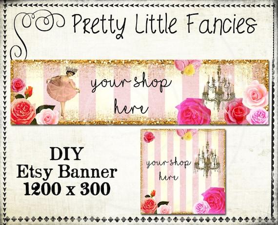 Etsy Shop Banner DIY Banner Template Premade Etsy Store Large Banner - etsy banner template