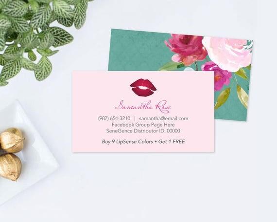 Editable Text LipSense PRINTABLE BUSINESS CARD, diy LipSense - lipsense business card