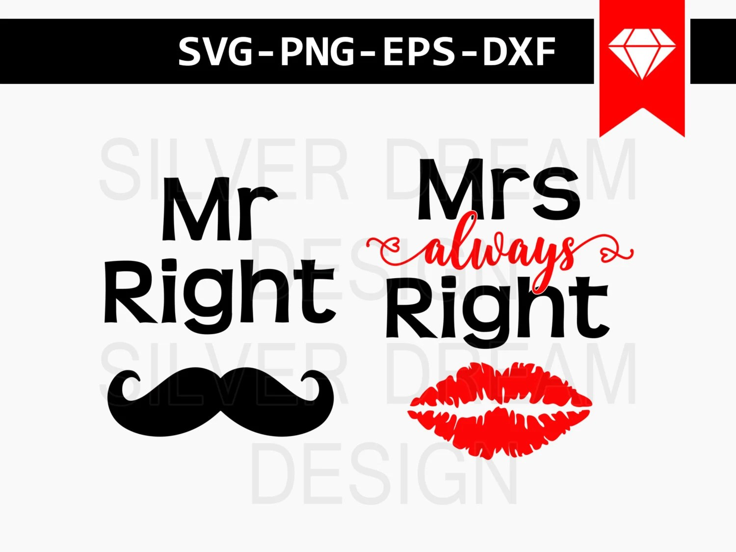 Mr Und Mrs Right Bettwäsche Mr Right Svg File Mrs Always Right Svg Mr And Mrs Couple