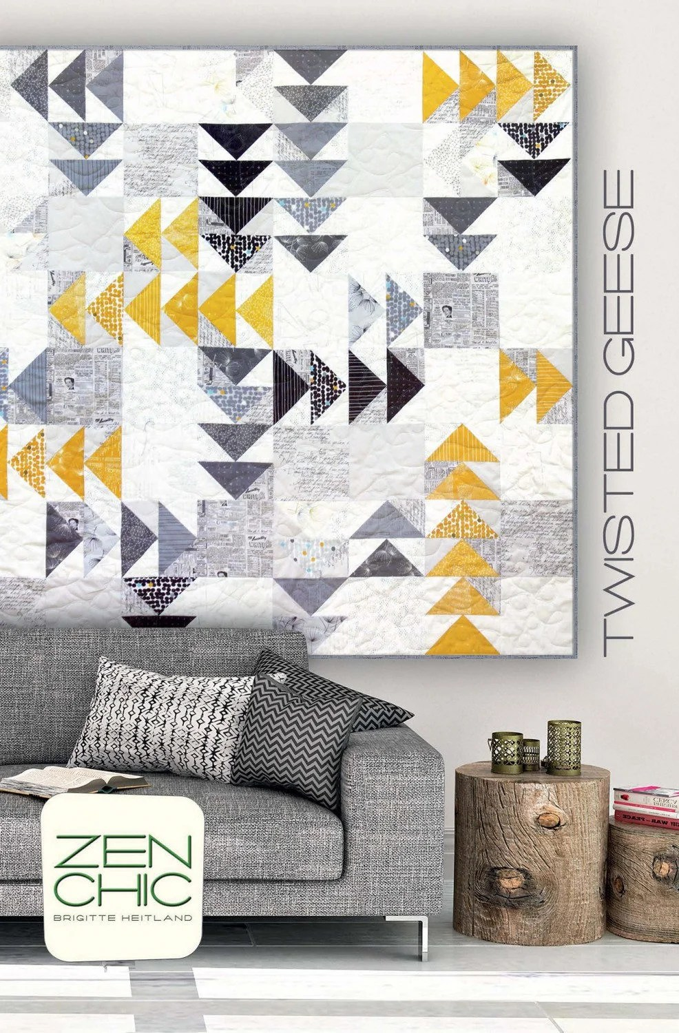 Twisted Geese Quilt Pattern by Zen Chic