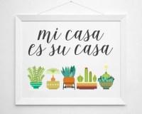 Items similar to Mi Casa Es Su Casa - print wall decor art ...