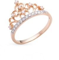 14k rose gold CROWN ring cz crown ring princess Ring tiara