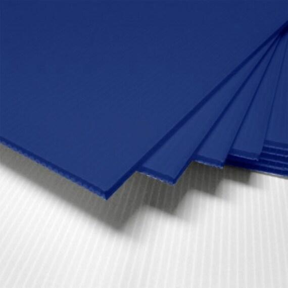 10 BLUE corrugated blank sign sheet 4mm x 24\