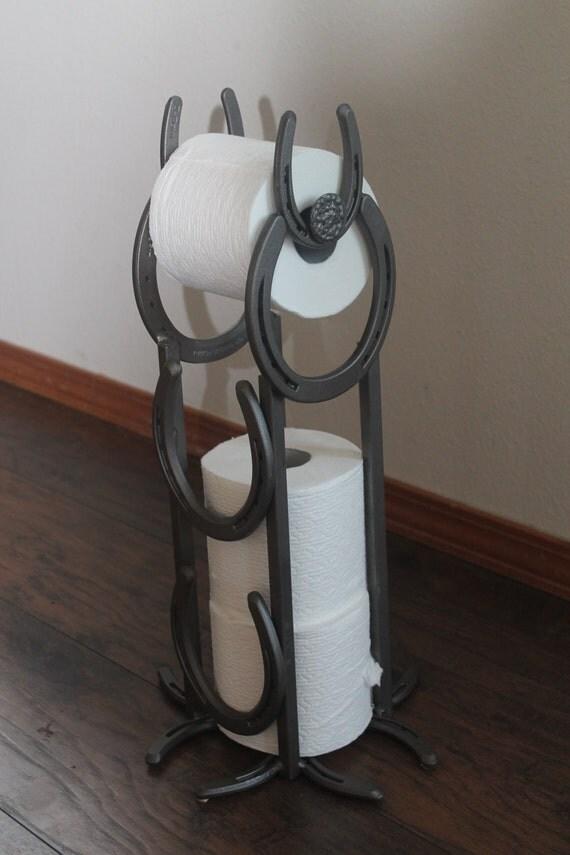 Horseshoe Toilet Paper Holder And Dispenser Standing