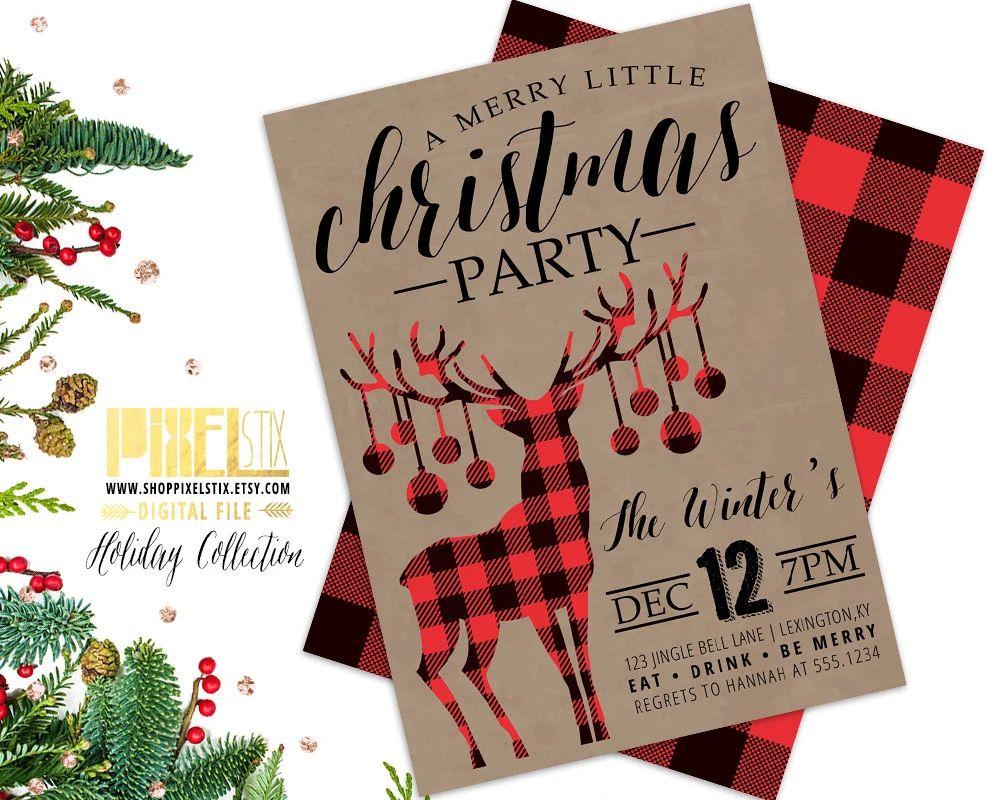holiday invitation paper