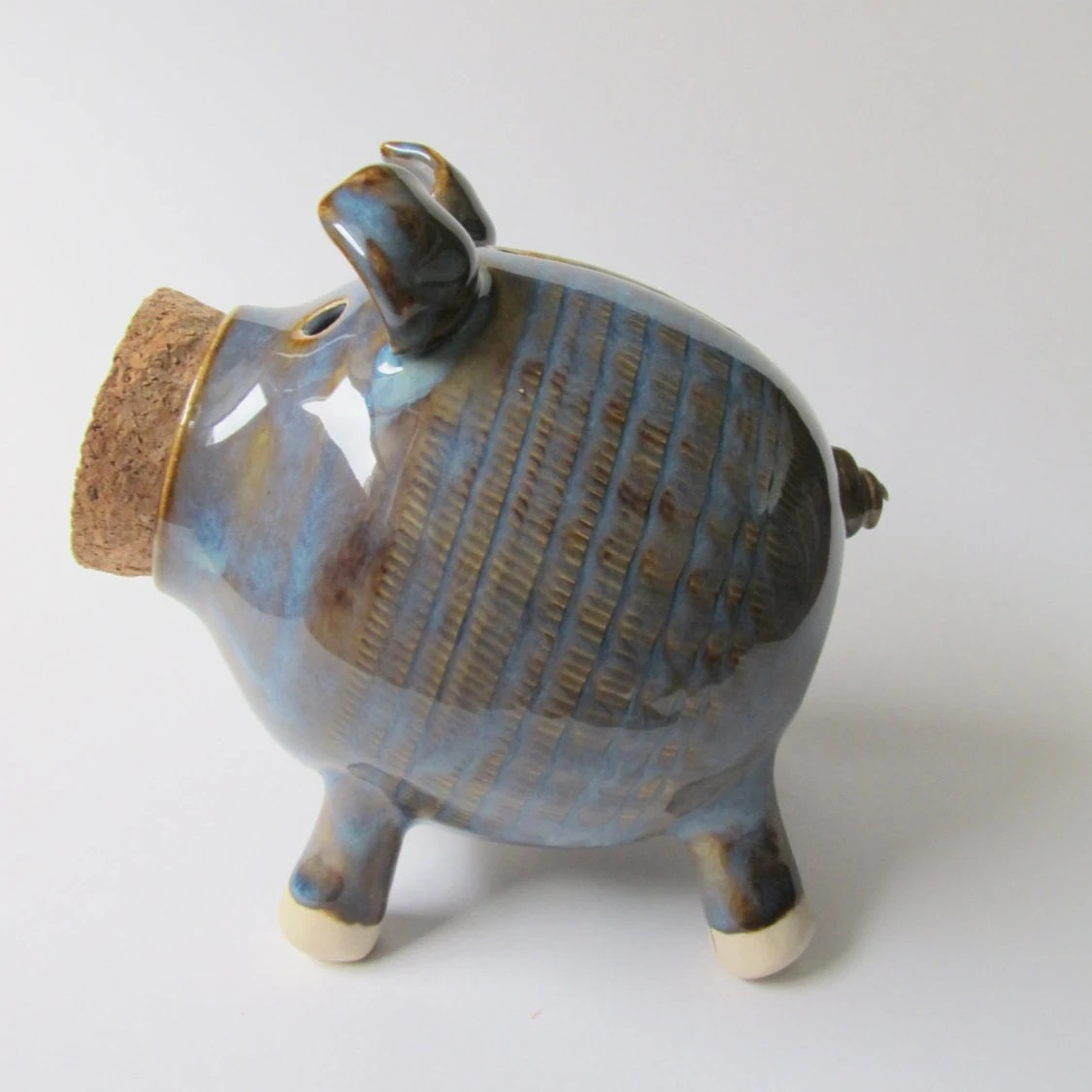 Cheap Piggy Banks For Sale Seconds Sale Ceramic Piggy Bank Handmade Piggy Bank Blue