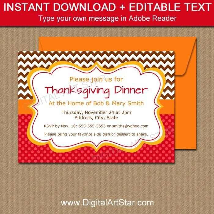 EDITABLE Thanksgiving Invitation - Thanksgiving Baby Shower Invites