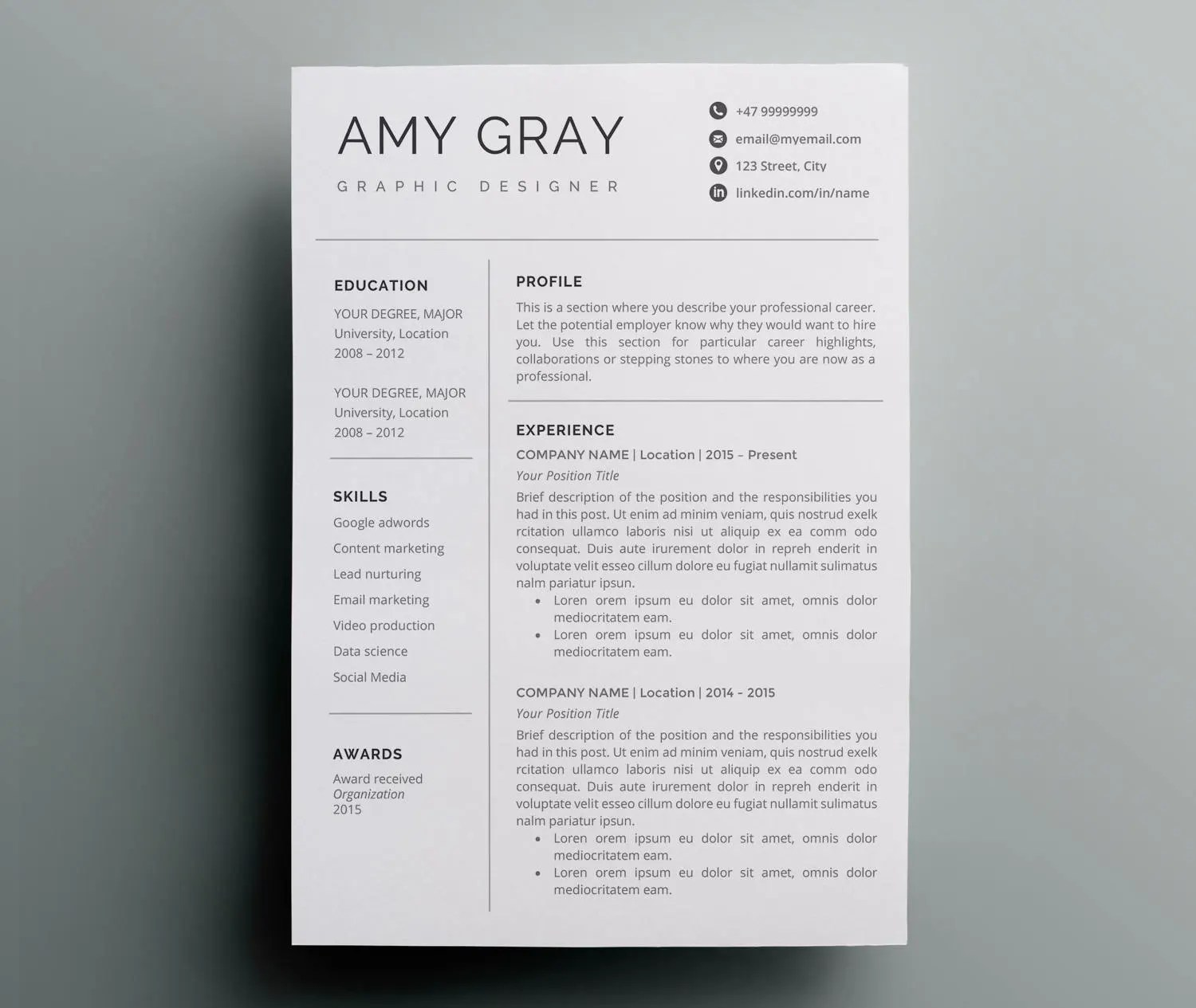Professional Resume Writing Services Great Resumes Fast Resume Design Etsy