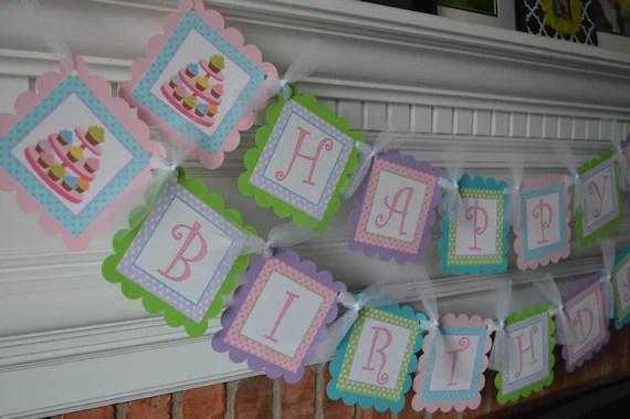 Cupcake Birthday Banner - Cupcake Party - Cupcake Shower - Cupcake