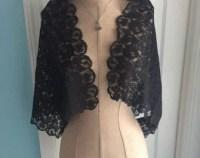 Black lace shawl sheer lace wrap bridesmaid shawl
