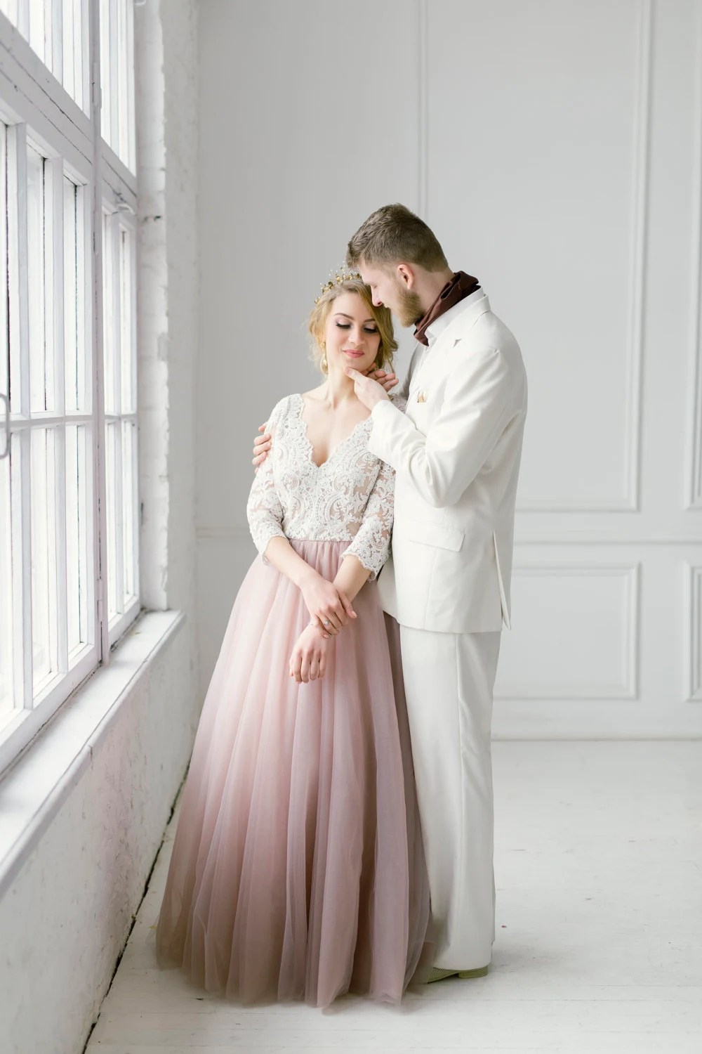 blush wedding dress blush wedding dresses Blush tulle dress blush long dress blush wedding dress blush gown color wedding dress blush and white gown