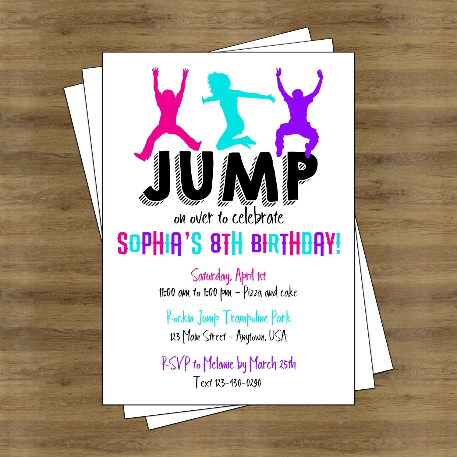 Trampolin Basteln Jump Party Invitation Trampoline Party Invitation Trampoline