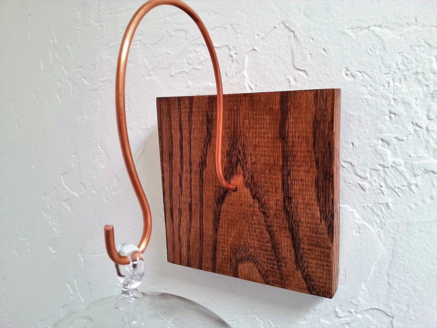 Wall Mount For Hanging Terrarium Handmade Wood And Copper