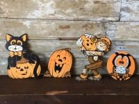 Lot of Vintage Cardboard Die Cut Halloween Cut Out Decorations
