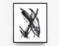 Black and White Wall Art Abstract Art Black and White