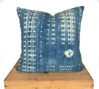 18 Vintage Indigo Mud Cloth Pillow Cover Mudcloth Pillow