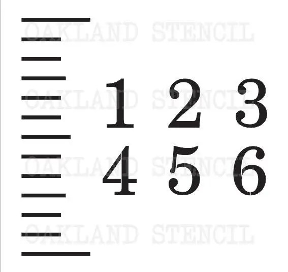 STENCILS for a Growth Chart Ruler Ticks and - number chart template