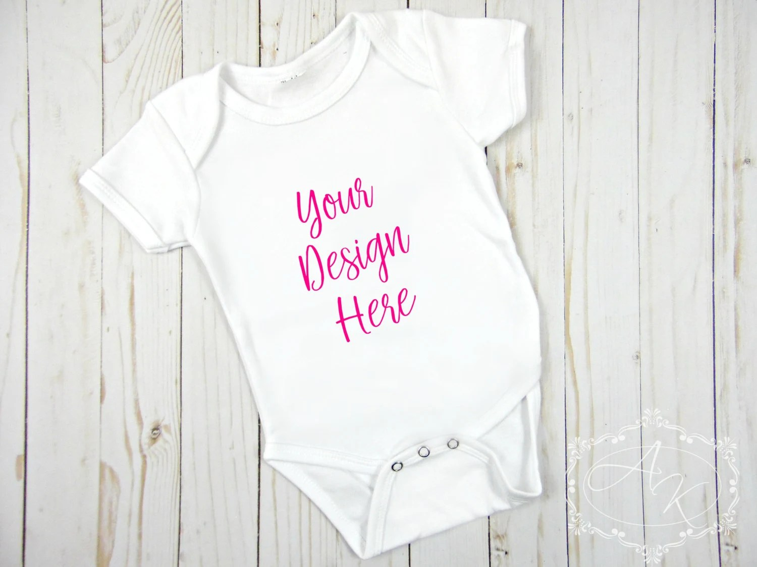 Blank White Baby Onesie Product Mock up, Styled Product Images